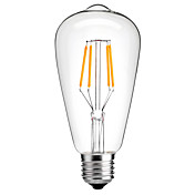 保存4ワットE27のST64のヴィンテージ主導エジソン電球のフィラメント電球のエネルギー4ワットLED- 40ワット同等(220-240V)