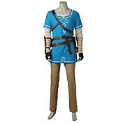 に触発さ ゼルダの伝说 コスプレ ビデオ ゲーム コスプレ衣装 コスプレスーツ ファッション シャツ 上着 パンツ グローブ バッグ 多くのアクセサリー