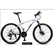 マウンテンバイク サイクリング 27スピード 26 inch/700CC MICROSHIFT 24 ダブルディスクブレーキ サスペンションフォーク アルミ合金フレーム 普通 アンチスリップ アルミニウム