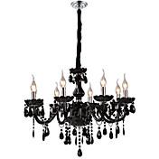 Lámpara Chandelier de Cristal con 8 Bombillas - STOLBERG