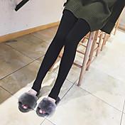 Mujer Sencillo Alta cintura Microelástico Leggin Pantalones,Pitillo Un Color Plano Color puro