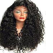 女性 人毛レースウィッグ 人毛 フルレース グルテンフリーレース 130% 密度 カーリー かつら ブラック ショート丈 ミディアム丈 ロング丈 ナチュラルヘアライン 黒人女性用 100%手作業縫い付け