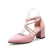 Mujer Sandalias Confort Pump Básico Botas de Moda Vellón Verano Otoño Casual Tacón Robusto Negro Gris claro Rosa claro 2'5 - 4'5 cms