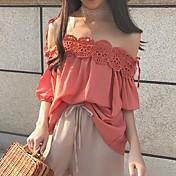レディース お出かけ Tシャツ,ストリートファッション ストラップ ソリッド その他 七分袖