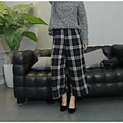 Mujer Chic de Calle Tiro Medio Microelástico Perneras anchas Pantalones,Holgado Bloques