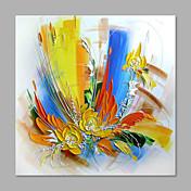 Hånd-malede Blomstret/Botanisk Vertikal,Abstrakt Moderne / Nutidig Et Panel Kanvas Hang-Painted Oliemaleri For Hjem Dekoration