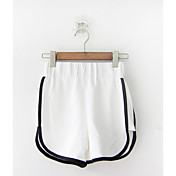 Mujer Sencillo Tiro Medio Microelástico Corte Recto Pantalones,Holgado Corte Recto Un Color