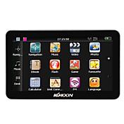 Kkmoon 7 portátil hd pantalla gps navegador 128mb ram 4gb rom mp3 fm video jugar bluetooth coche sistema de entretenimiento con la espalda