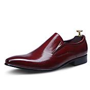 Hombre Zapatos Cuero Primavera Otoño Zapatos formales Zapatos de boda Para Boda Fiesta y Noche Negro Borgoña