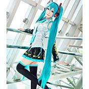Pelucas de Cosplay Vocaloid Hatsune Miku Azul Extra largo / Corte Recto Anime/Videojuego Pelucas de Cosplay 120 CMFibra resistente al