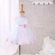 Vestido Bebé Color Sólido-Poliéster-Verano-