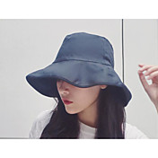 Mujer Primavera Otoño Sombrero Poliéster Sombrero Floppy,Sólido
