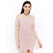 Aliexpress feminino comércio exterior explosão modelos 2017 primavera e verão colar de manga curta vestido saia