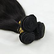 人間の髪編む ブラジリアンヘア ストレート 12ヶ月 3 ヘア織り kg 簡単装着つけ毛