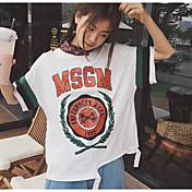 Mujer Bonito Noche Camiseta,Escote Redondo Estampado Media Manga Otro