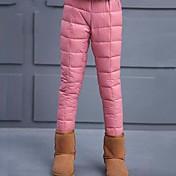 Pantalones Chica Un Color Algodón Poliéster Invierno