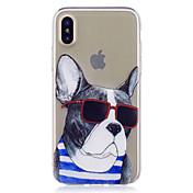 Para iPhone X iPhone 8 iPhone 8 Plus Carcasa Funda Diseños Cubierta Trasera Funda Perro Suave TPU para Apple iPhone X iPhone 8 Plus