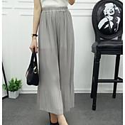 Mujer Sexy Tiro Alto Microelástico Chinos Pantalones,Ajustado a la Bota Un Color
