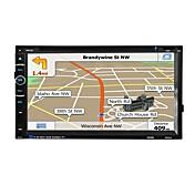 audio de la radio del coche 2 din 6.95 '' pantalla táctil de la pulgada lcd multimedia vídeo dvd jugador gps navegación bluetooth
