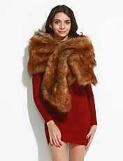 Women's Faux Fur Scarf,Vintage Party Casual RectangleSolid