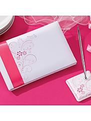 ピンク花柄☆結婚式芳名帳とペンセット