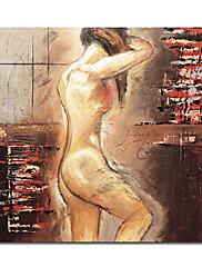 手描き 人物 油絵 中枠付き HB-1329