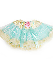 A-Linie Princess Ke kolenům Šaty pro květinovou družičku - Tyl Charmeuse s Mašle Květina(y) Volánky