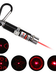 4 u 1 crveni laser dovela keychain - srebro