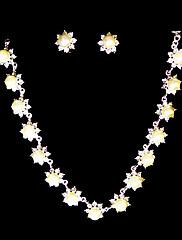 ホワイト♥ラインストーン/淡水真珠♥925純銀♥ジュエリーセット(ネックレス、ピアス)