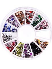 240ネイルアートラインストーンの輝きチップミックス宝石ホイール