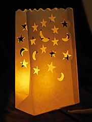 svatební výzdoba moon& ve tvaru hvězdy cut-out papír svítidlo