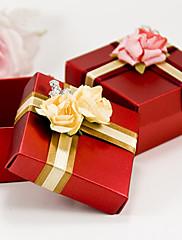 Rudé náměstí prospěch krabici s mašlí a květin (sada 6)