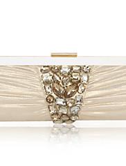 samet s akrylovými šperky večerní kabelka / spojky (více barev)