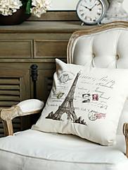 paris styl tisku dekorativní polštář