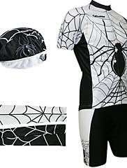 jízda na kole BIB obleky s šátku a Návleky na ruce (bílá a černá)