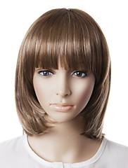 capless vysoce kvalitní přírodní vzhled šedé bob vlasy paruka
