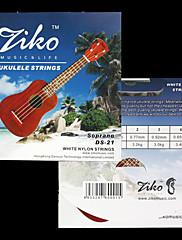 Ziko - (ds-21) vysoce kvalitní bílé nylonové struny soprán ukulele (060-065)