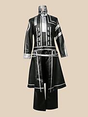 に触発さ D.Gray-man アレン・ウォーカー アニメ系 コスプレ衣装 コスプレスーツ パッチワーク ブラック ロング コート パンツ バッジ ポケット のために
