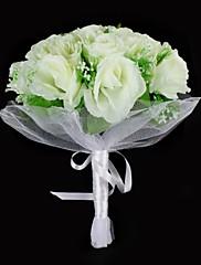 satén / bavlna růže okrouhl tvaru svatební kytice