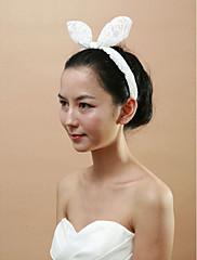 krásná krajka s Čelenky králičí uši ženských