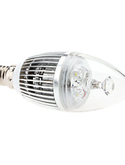 E14 3W 240-270LM 6000-6500KナチュラルホワイトライトLEDキャンドル電球(85-265V)