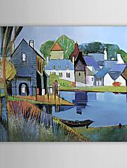 Ručně malované KrajinaModerní Jeden panel Plátno Hang-malované olejomalba For Home dekorace