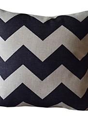 古典波線コットン/リネン装飾枕カバー