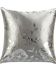 twopages® moderní květinové polyesterové ozdobný kryt polštářů ve stříbře