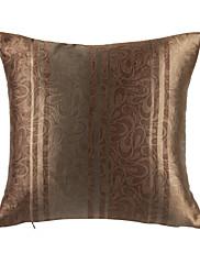 Elegantní květinové khaki polyester dekorativní polštář