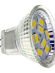 4W GU4(MR11) LED bodovky MR11 9 SMD 5730 430 lm Teplá bílá DC 12 V