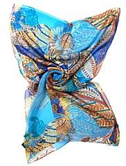 qthy tropické šifon dlouhá šála (modrá)