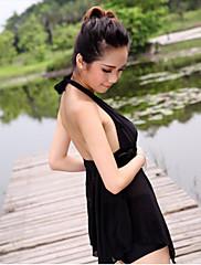 dámské sexy černé hluboké v tankini s podprsenky polštářky