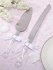 ステンレス鋼 食器セット クラシックテーマ ラインストーン ホワイトボウ ギフトボックス