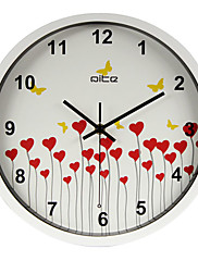 """12 """"srdce h barevný rám stěna wlock moderní styl nástěnné hodiny"""